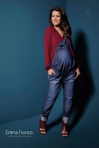 Macacão jeans e de malha